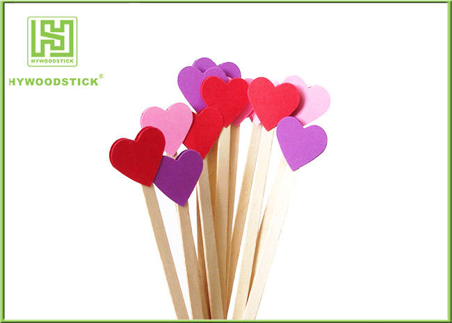 Food Grade Wooden Tea Stirrers , Disposable Coffee Stirrers 140 / 178 / 190MM