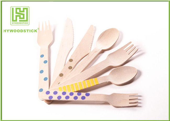 Customized Logo Eco Friendly Cutlery Birch Wood Disposable Serving Spoons For Cafe