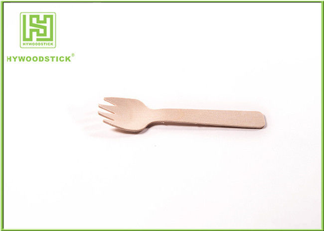 Anti - Bacteria Disposable Wooden Flatware , Eco Friendly Disposable Cutlery For Snack Bar