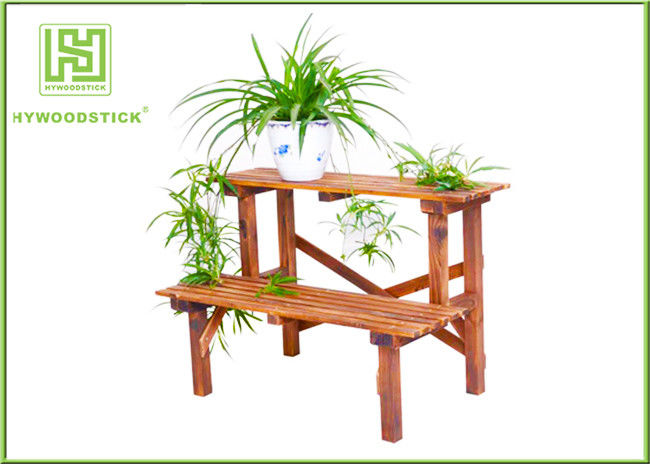 Standing Outdoor Durable Bamboo Flower Pots Garden Shelves For Home