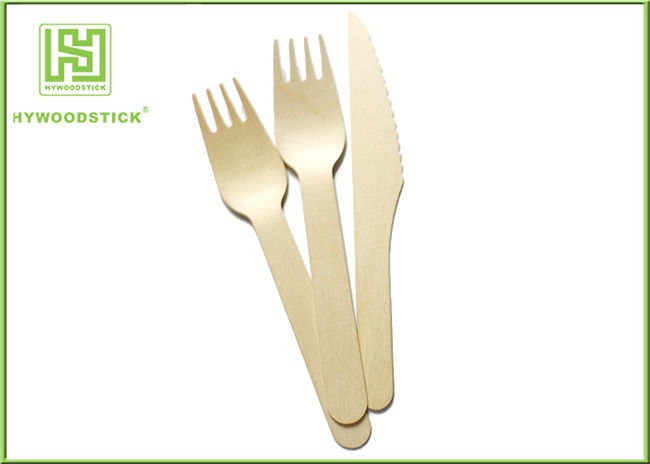 Promotional Wooden Eco Friendly Cutlery Set Spoon Fork Knife Food Grade
